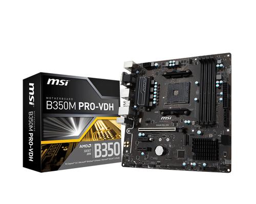 MSI MB B350M PRO-VDH AM4 4DDR4 PCI-E M,2 4*SATA3 6*USB3.1 PRO SERIES
