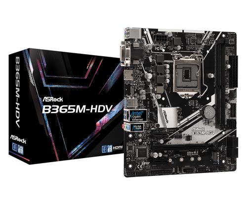 ASROCK MB B365M-HDV 2xDDR4 1xPCIe 3.0 2xPCIe 3.0 6 SATA3 DVI/HDMI MATX