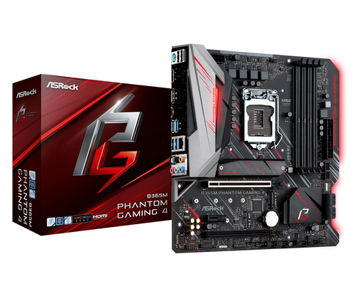 ASROCK MB B365M PHANTOM GAMING 4S 4DDR4 2PCI-E X16 M2 HDMI