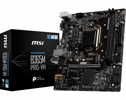 MSI MB B365M PRO-VH ATX LGA1151 2DDR4 PCI-EX/16 M.2 SATA3 USB3.1