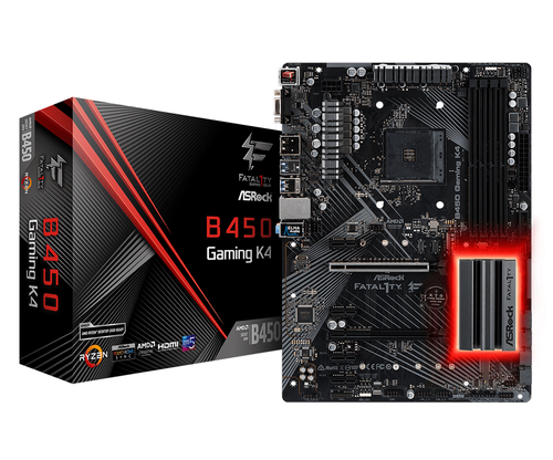 ASROCK MB AMD B450 GAMING K4 4DDR4 PCI-E X16 M2 HDMI ATX