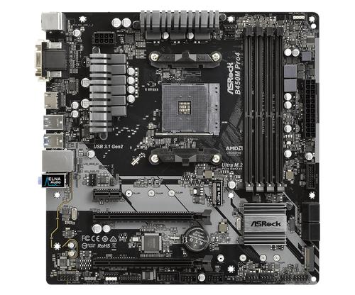 ASROCK MB AMD B450M PRO4 4DDR4 PCI-E X16 M2 DVI/HDMI MATX