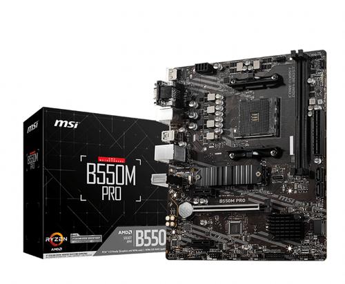 MSI MB AMD B550M PRO, AM4, 2DDR4, 1PCI-Ex16, 2PCI-Ex1, 1M2, 4SATA3