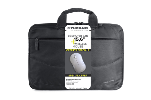TUCANO BORSA + MOUSE WIRELESS (BORSA SLIM PER NOTEBOOK DA 15,6
