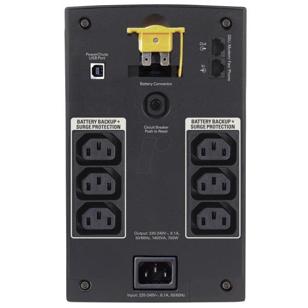 APC BACK-UPS 1400VA, 230V, AVR, IEC SOCKETS