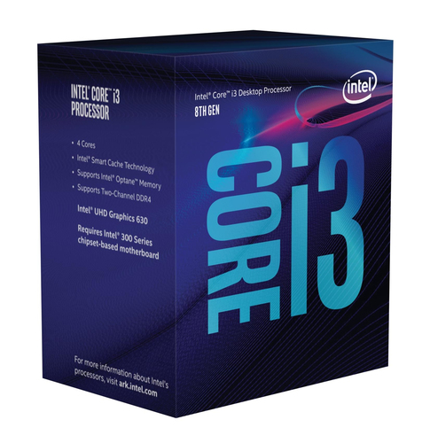 INTEL CPU COFFEE LAKE I3-8300 3.70GHZ SOCKET LGA1151 8MB CACHE BOXED