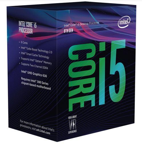 INTEL CPU COFFEE LAKE I5-8400 6 CORE 2.80GHZ SOCKET LGA1151 9MB CACHE BOXED