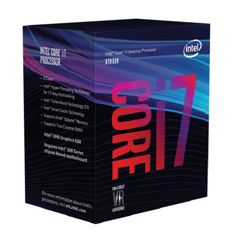 INTEL CPU COFFEE LAKE I7-8700 6 CORE 3.20GHZ SOCKET LGA1151 12MB CACHE BOXED