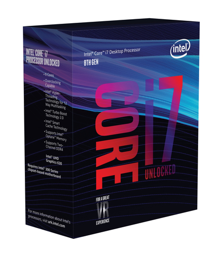 INTEL CPU COFFEE LAKE I7-8700K 6 CORE 3.70GHZ SOCKET LGA1151 12MB CACHE BOXED SENZA DISSIPATORE