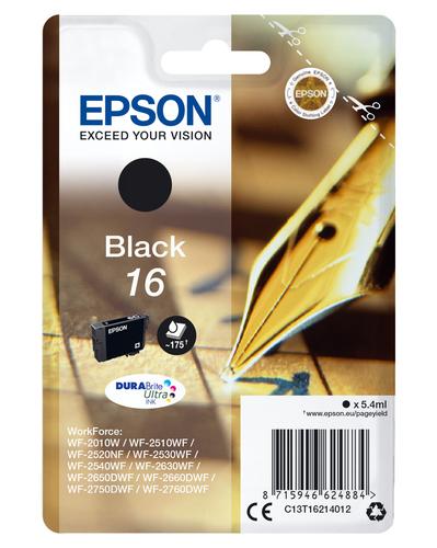 EPSON CART INK NERO PER WF-2510WF, WF-2520NF, WF-2530WF WF-2540WF SERIE 16 PENNA E CRUCIVERBA