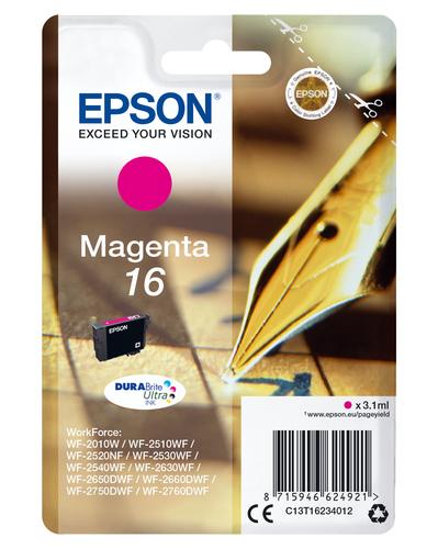 EPSON CART INK MAGENTA PER WF-2510WF, WF-2520NF, WF-2530WF WF-2540WF SERIE 16 PENNA E CRUCIVERBA