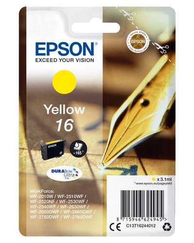EPSON CART INK GIALLO PER WF-2510WF, WF-2520NF, WF-2530WF WF-2540WF SERIE 16 PENNA E CRUCIVERBA