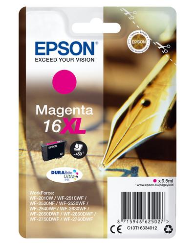 EPSON CART INK XL MAGENTA PER WF-2510WF, WF-2520NF, WF-2530WF WF-2540WF SERIE 16XL PENNA E CRUCIVERBA