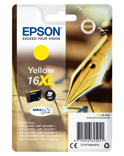 EPSON CART INK XL GIALLO PER WF-2510WF, WF-2520NF, WF-2530WF WF-2540WF SERIE 16XL PENNA E CRUCIVERBA