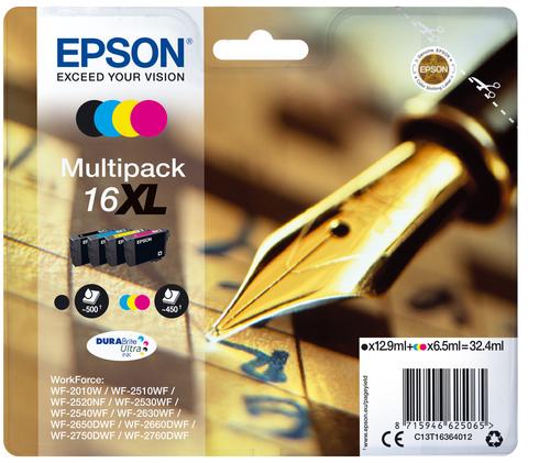 EPSON MULTIPACK XL PER WF-2510WF, WF-2520NF, WF-2530WF WF-2540WF SERIE 16 PENNA E CRUCIVERBA