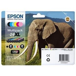 EPSON CART. INK MULTIPACK 6 CARTUCCE SERIE 24XL ELEFANTE PER XP750 XP856