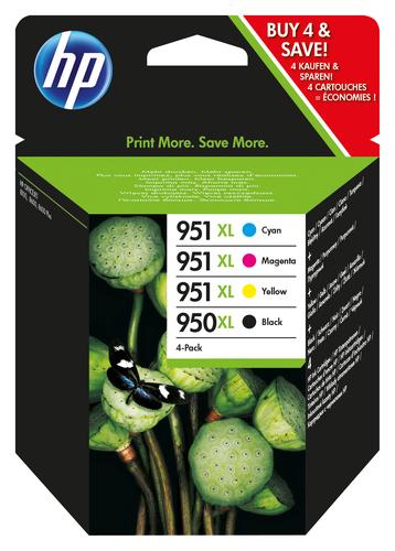 HP CART INK MULTICOLOR 950XL/951XL (BK+C+M+Y) OJ PRO 8620
