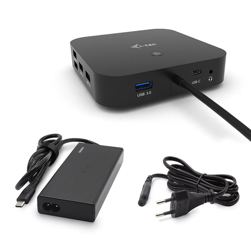 I-TEC DOCKING STATION USB-C DUAL DISPLAY WITH POWER DELIVERY 100W+CHARGER-C77W