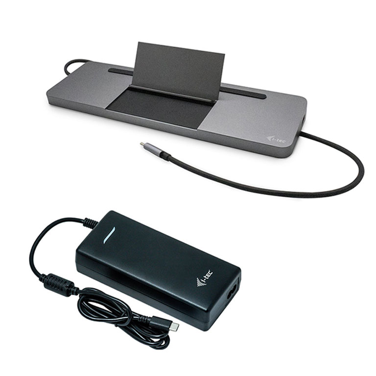 I-TEC DOCKING STATION USB-C METAL LOW PROFILE TRIPLE DISPLAY + POWER DELIVERY 85W + CHARGER 112W