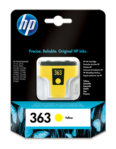 HP CART. GIALLO LARGE NUM.363 3210/3310/8250