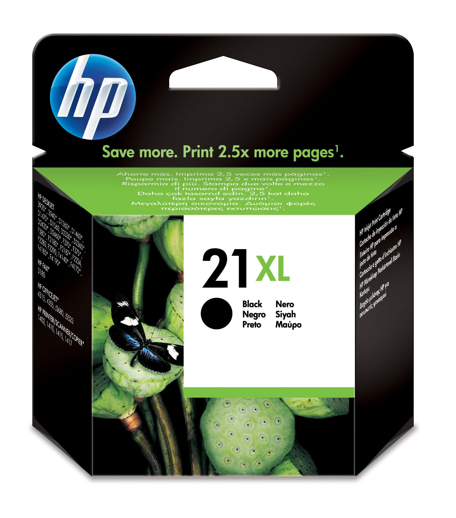HP CARTUCCIA NERA N.21 XL