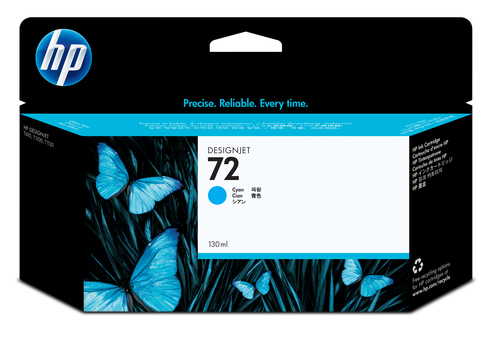 HP CART INK 72 CIANO VIVERA 130 ML PER PLOTTER 1100/T610