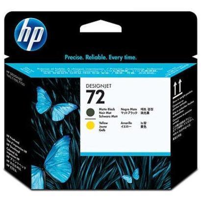 HP CART. INK TESTINA NERO OPACO E GIALLO N 72 PER DESIGNJET T1100