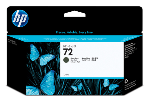 HP CART INK 72 NERO OPACO VIVERA 130 ML PER PLOTTER 1100/T610