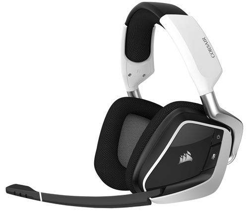 CORSAIR CORSAIR GAMING  VOID PRO RGB WIRELESS PREMIUM GAMING HEADSET WITH     DOLBY HEADPHONE 7.1, WHITE (EU VERSION)