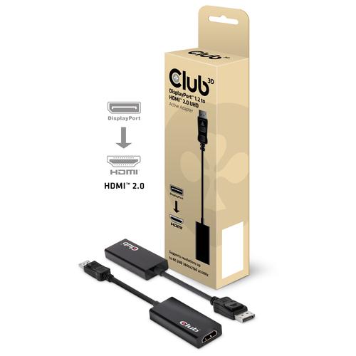 CLUB3D ADATTATORE DISPLAYPORT 1.2 HDMI 2.0 UHD