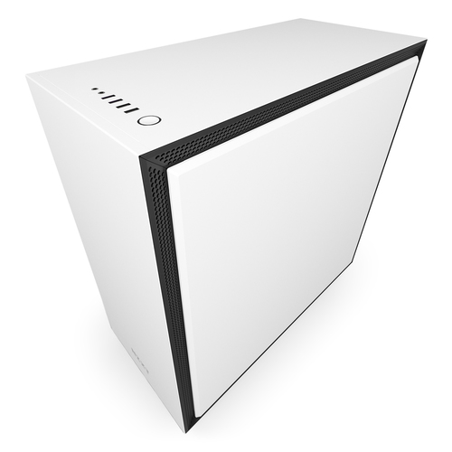 NZXT CASE H700 MID TOWER ATX, MATTE WHITE, WINDOW, 7 SLOT ESPANSIONE, 2XUSB 2.0, 2XUSB 3.0, 1XAUDIO/MIC, 1XAER F120, 1XAER F140
