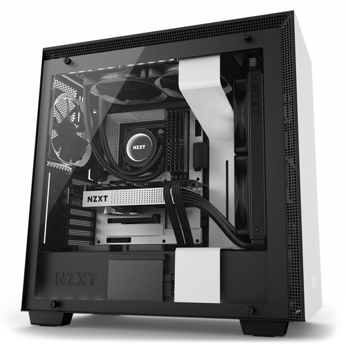 NZXT CASE H700i MID TOWER ATX, MATTE WHITE, WINDOW, 7 SLOT ESPANSIONE, 2XUSB 2.0, 2XUSB 3.0, 1XAUDIO/MIC, 1XAER F120, 1XAER F140, CAM COMPATIBILITY WITH RGB CONTROLLER