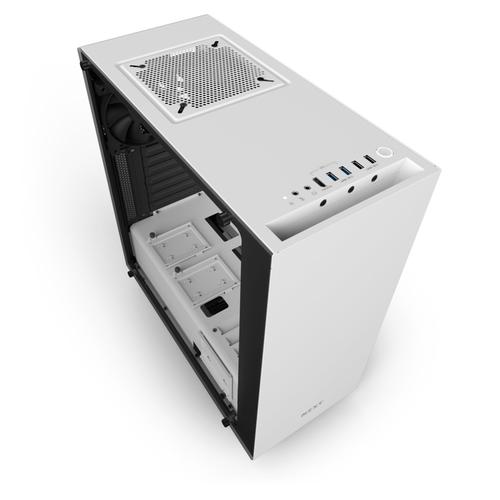 NZXT CASE S340 ELITE, ATX, 7 SLOT DI ESPANSIONE, USB2.0/3.0, 3,5/2,5, 2X120MM FAN INCLUDED (1 TOP/1 REAR), BIANCO