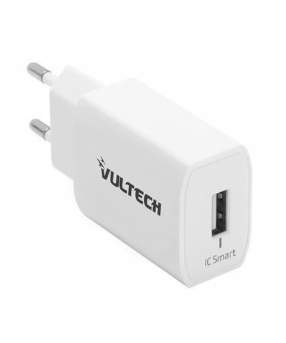VULTECH CARICATORE UNIVERSALE 1 PORTA USB 2,4A 12W - BIANCO