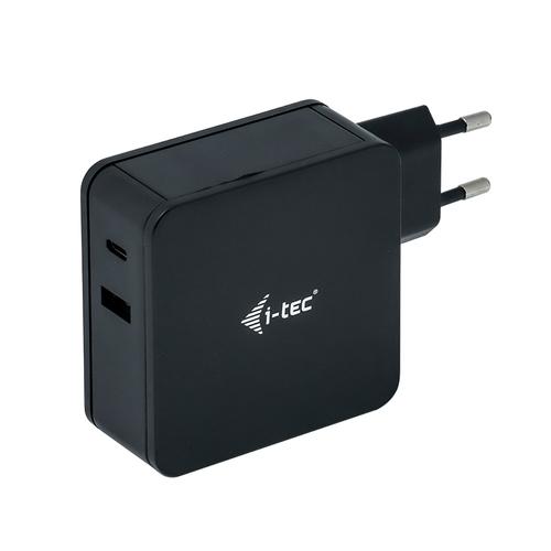 I-TEC CAVO USB-C CHARGER 60W+USB A PORT 12W