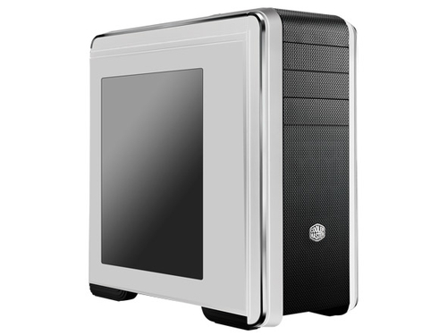 COOLER MASTER CASE, CM 690 III BLACK/WHITE, ATX, TRANSPARENT SIDE WINDOW FROM THE HDD/SSD COMBO CAGES