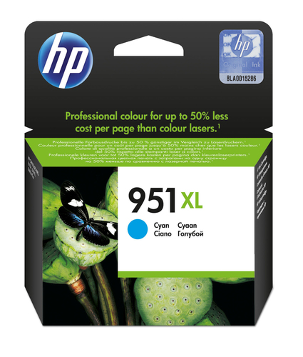 HP CART INK CIANO PER OJ PRO8100/8600 1500PAG 951XL