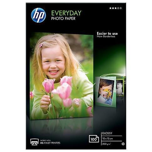 HP CARTA FOTOGRAFICA LUCIDA HP EVERYDAY GLOSSY PHOTO PAPER - 100 FOGLI/10X 15 CM