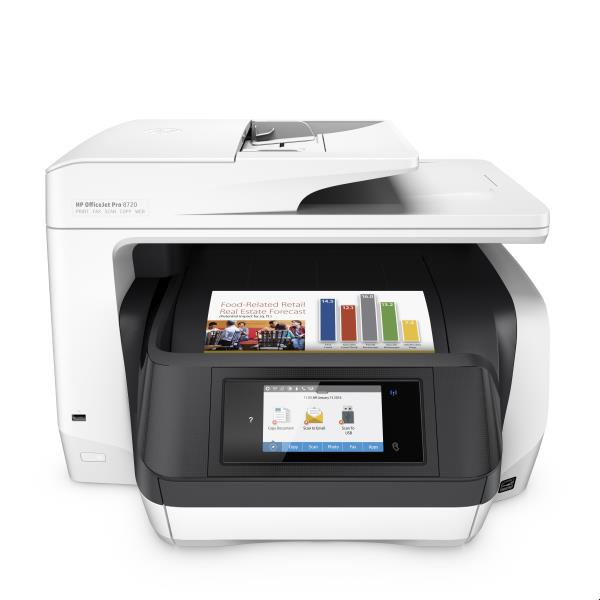 HP MULTIF. INK OJ PRO 8720 A4 24PPM FRONTE/RETRO USB/ETHERNET/WIFI STAMPANTE SCANNER COPIATRICE FAX