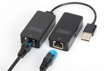 ESTENSORE DI LINEA USB 2.0 FINO A 50 MT. TRAMITE CAVO RETE CAT 5E