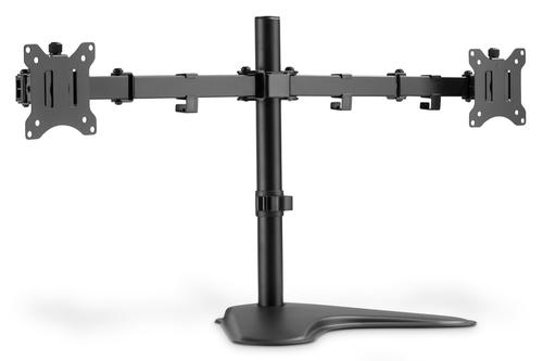 PORTA MONITOR DOPPIO CON PIEDISTALLO 17-32, 2 X 8 KG (MAX), NERO