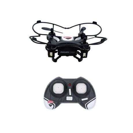 DROMOCOPTER DRONE DUCATICORSE NERO BATTERIA LI-PO 5MIN DI VOLO CAVO USB X RICARICA SET 4PZ ELICHE RICAMBIO