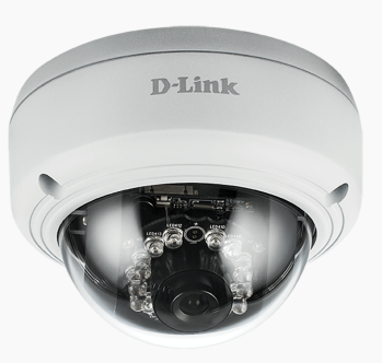 D-LINK IP CAMERA VIGILANCE OUTDOOR VANDAL PROOF POE DOME 2MPX FULL HD 30FPS IR LED EPTZ MOTION DETECTION