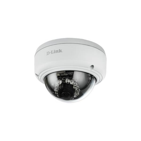 D-LINK IP CAMERA VIGILANCE OUTDOOR VANDAL PROOF POE DOME 2MPX FULL HD 30FPS IR LED EPTZ MOTION DETECTION
