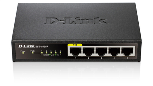 D-LINK SWITCH 5 PORTE 10/100 DI CUI 1 POE DESKTOP