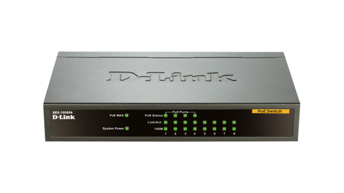 D-LINK SWITCH 8 PORTE 10/100 DI CUI 4 POE DESKTOP