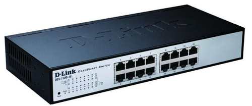 D-LINK SWITCH 16 PORTE 10/100 SMART MANAGED