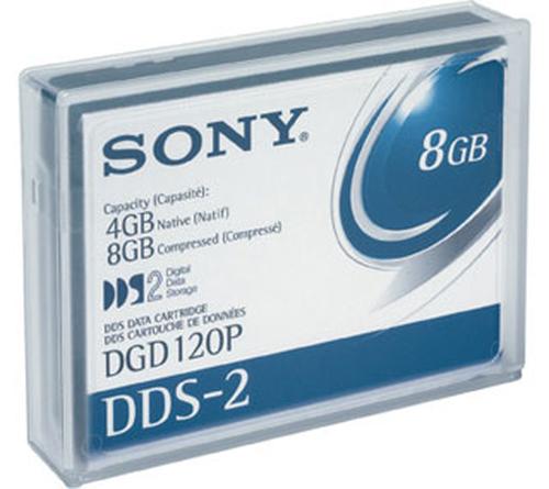 SONY CARTUCCIA DAT 4GB/8GB COMPRESSED 4MM 120M DDS2 5,4X7,3 X1 CM