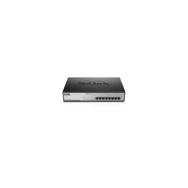 D-LINK SWITCH 8 PORTE GIGABIT POE DESKTOP RACK MOUNTABLE
