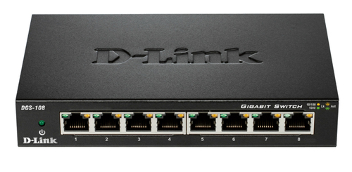 D-LINK SWITCH 8 PORTE GIGABIT CASE METALLICO